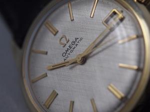 Omega Linen Dial Close-up