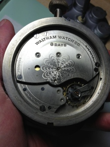 Waltham Car Clock Movement
