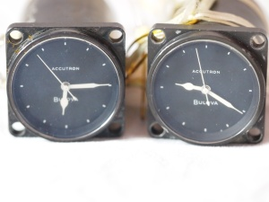 Two TE-12 Accutron clocks used by NASA