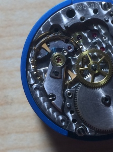 Rolex 1500 Movement on Bench