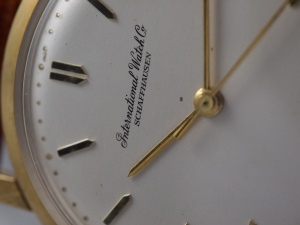 IWC 402 Dial Close up
